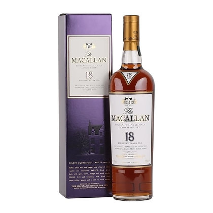 Macallan 18 Sherry 2016- מקאלן 18 שרי 2016