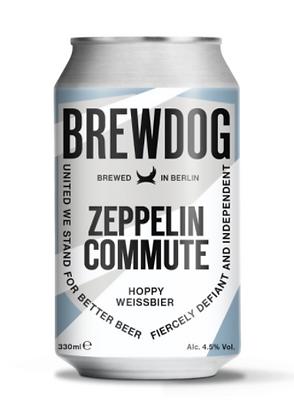 """ברודוג זפלין קומיוט חיטה 330 מ""""ל – Brewdog Zeppelin Commute Hoppy Weissbier"""