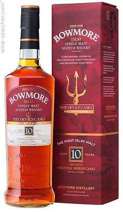 Bowmore Devil Cask 10 - באומור חבית השטן 10שנים
