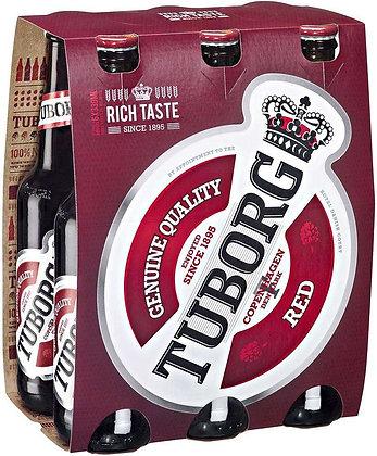 Tuborg red 6 pack - טובורג אדום שישיה