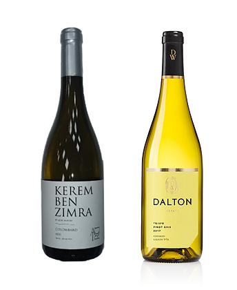 זוג יינות לבן: דלתון אסטייט פינו גרי  -אדיר כרם בן זמרה קולומברד