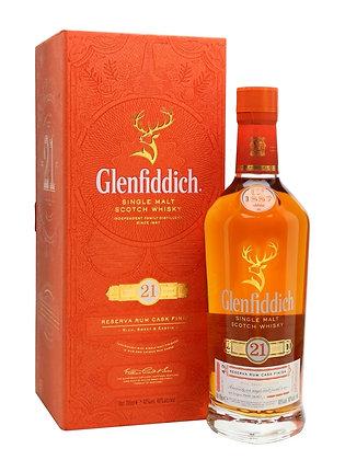 Glenfiddich 21 Rum Cask - גלנפידיך 21 רום קאסק