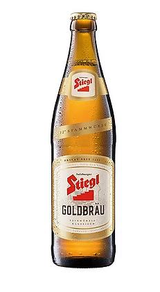 """Stiegl GoldBrau  - שטיגל גולדבראו לאגר 500 מ""""ל"""