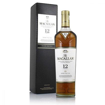 Macallan 12 Sherry cask - מקאלן 12 שרי קאסק