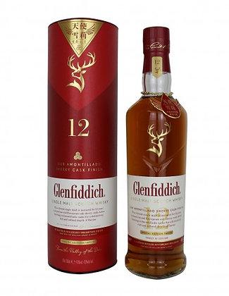 Glenfiddich 12 - Amontillado Sherry Cask Finish - גלנפידיך 12 שרי