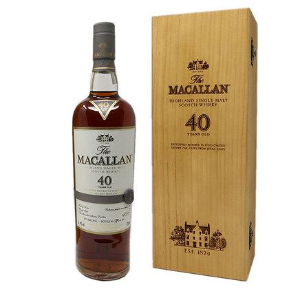 Macallan 40 Sherry Oak- מקאלן 40 שרי אוק
