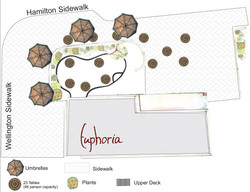 Garden Cafe Concept Drawing Ground level