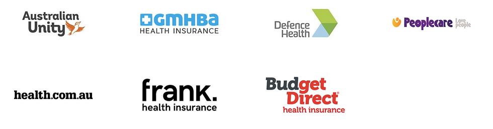 Australian Unity preferred provider, GMHBA preferred provider, defence health preferred provider, peoplecare preferred provider, frank health insurance preferred provider, budget direct health fund preferred provider