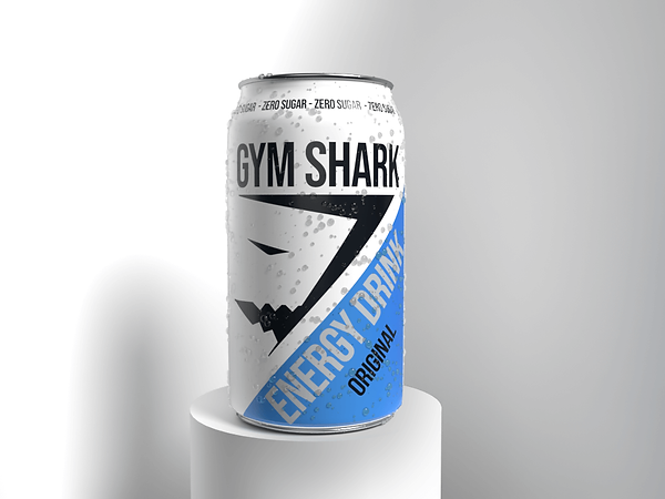 Buzzy Graphics a freelance graphic designer and illustrator in manchester and Lancashire available for hire remotely. Concept for Gym Shark, creating packaging design for an energy drink.