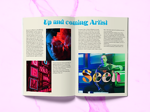 Buzzy graphics creates a bold and edgy brand identity for an magazine.