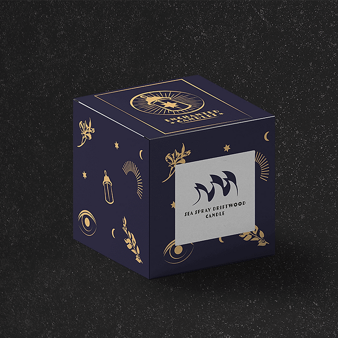 Buzzy graphics creates a magical and mystical candle brand from scratch including logo colour font pattern & illustration candle box packaging design a brand assets