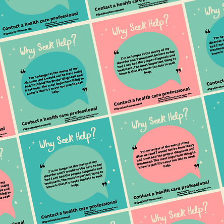 Buzzy graphics create empowering social media campaign that focuses on allowing people with PTSD to speak out and get help by creating happy and positive designs which evoke strength. The campaign focuses on message and hand lettering.