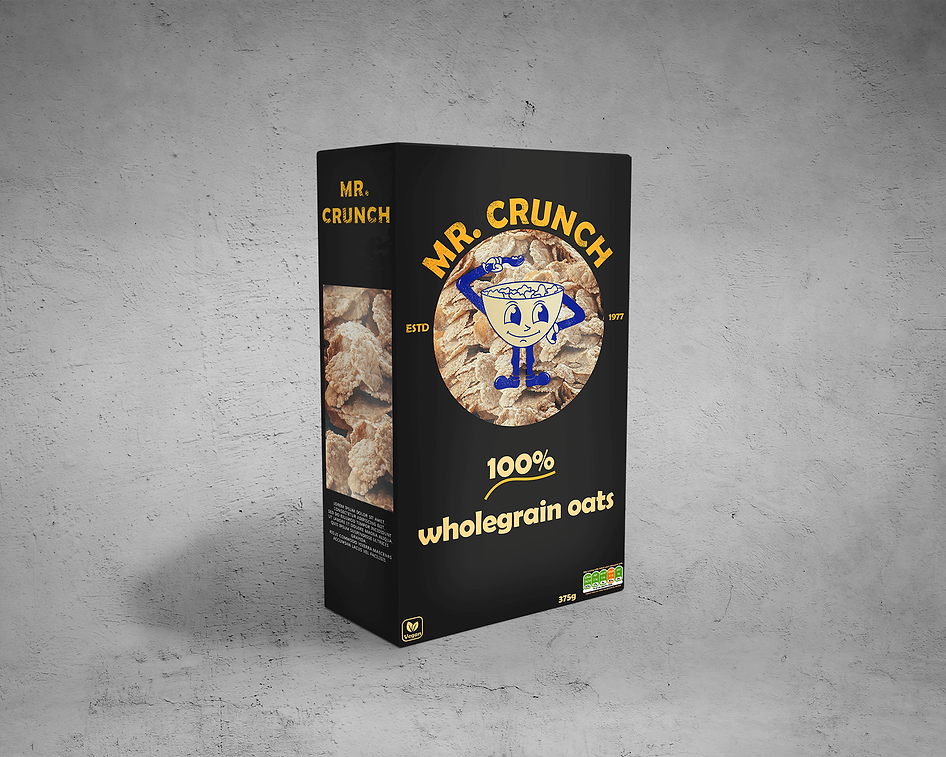 Buzzy Graphics a freelance graphic designer and illustrator in manchester and Lancashire available for hire remotely. This cereal box packaging design is retro-inspired!