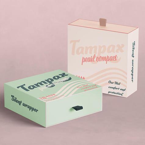 Moderning tampax packaging