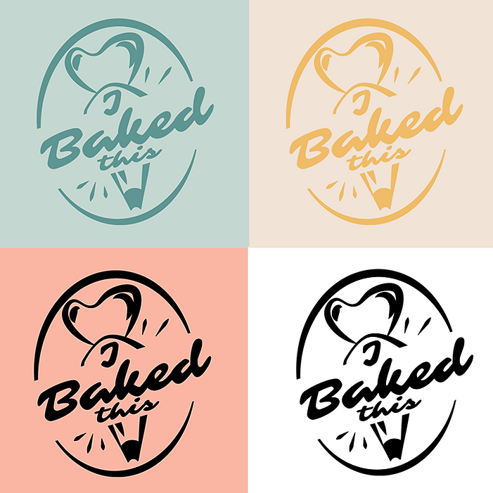 Buzzy graphics creates a playfu and colourful baking / cake shop brand from scratch including logo colour font packaging design and illustrations