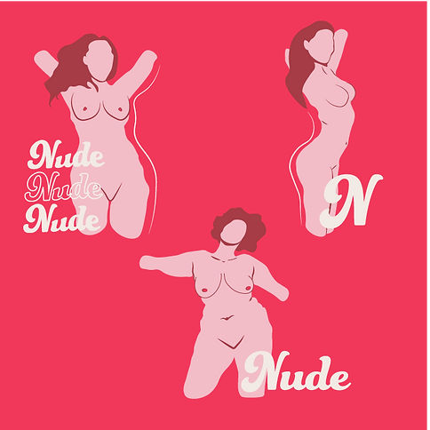 Buzzy graphics creates a empowering candle brand which focuses on body candles. The brand is feminien focusing on pinks & reds. The illustration, patterns and photography focus on womens bodies, the illustratiosn feature nude women.