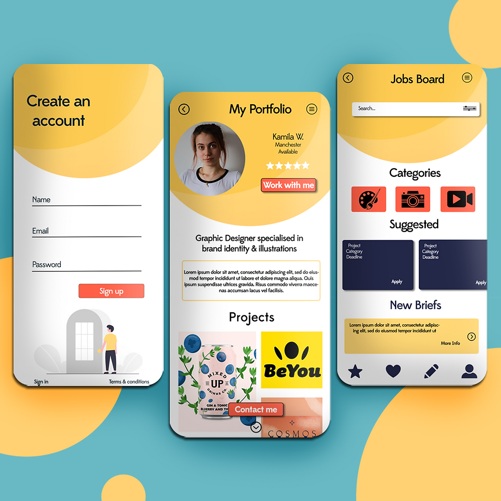 Buzzy Graphics freelance graphic designer and illustrator in manchester and lancashire available for hire remotely UX UI design mobile app design