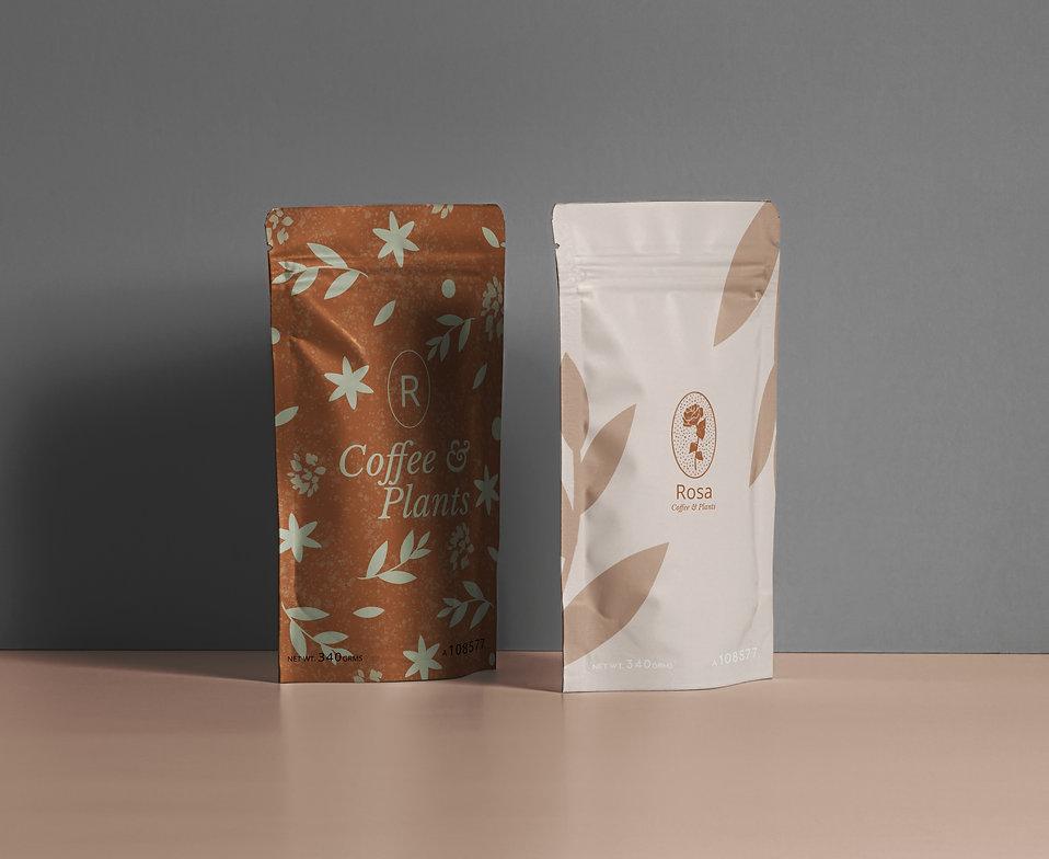 graphic design packaging design pattern design branding visual identity coffee pouch design
