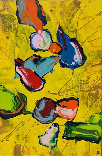 Peintre abstrait-Florence Pages-Art Rithmetique-(π - x)