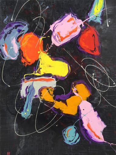 Peintre abstrait-Florence Pages-Art Rithmetique-(1,tang -α )