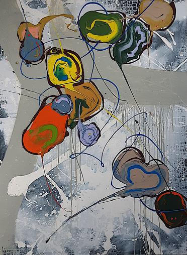 Peintre abstrait-Florence Pages-Art Rithmetique -P= 2 π r
