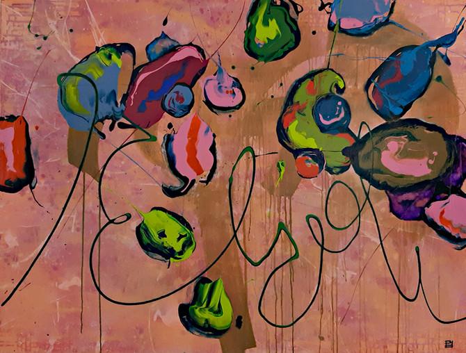Peintre abstrait-Florence Pages-Art Rithmetique-x + π /2