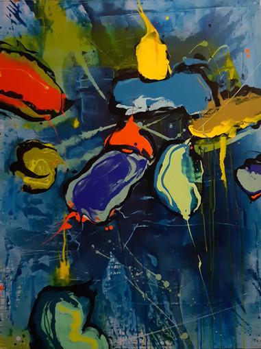 Peintre abstrait-Florence Pages-Art Rithmetique-y = -2x-1