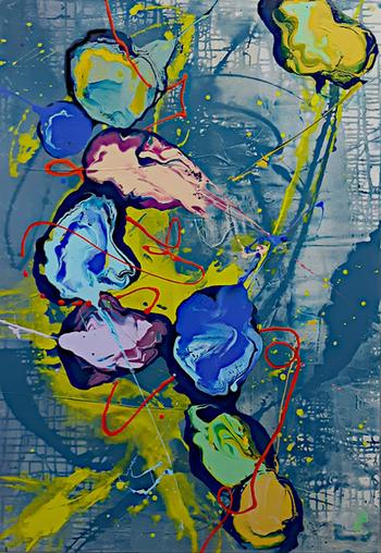 Peintre abstrait-Florence Pages-Art rithmetique-tang α=1/2
