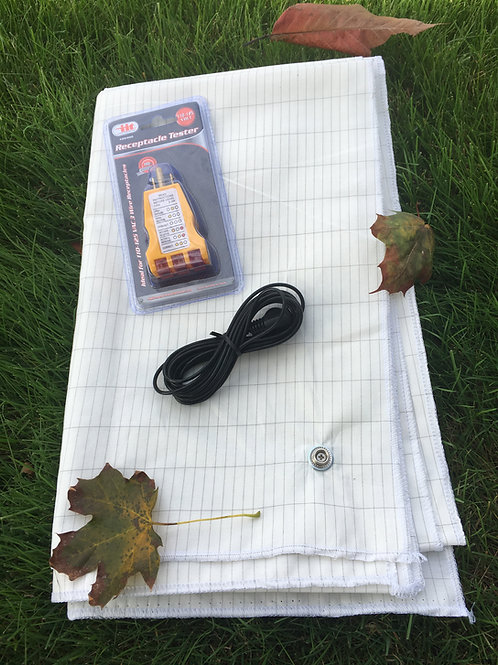 Cotton and Silver Earthing / Grounding sheet