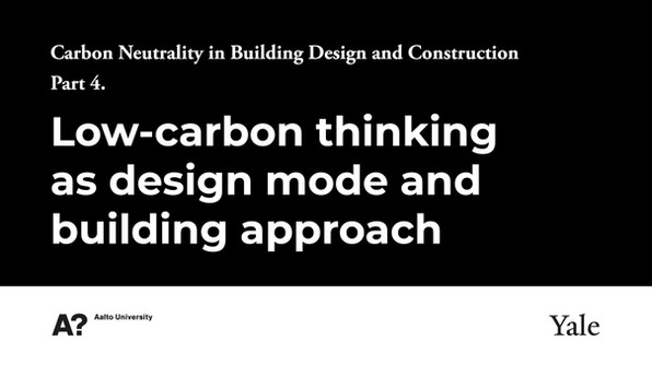4- Low-carbon Thinking