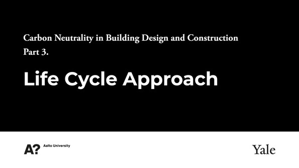 3- Life Cycle Approach