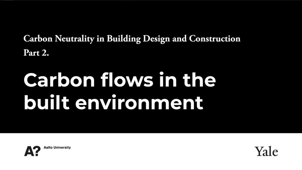 2- Carbon Flows in the Built Environment