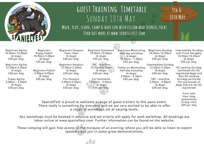 Sunday Timetable. SpanielFest.jpg