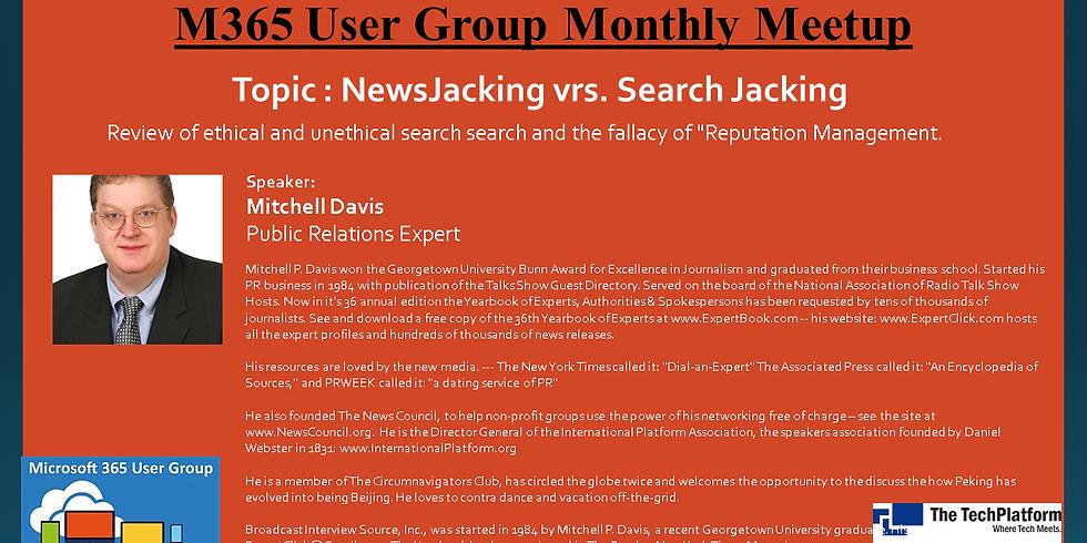NewsJacking vrs. Search Jacking - NJ User Group Jan 2021