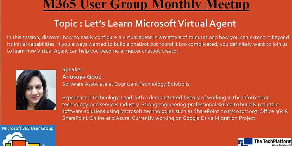 M365 User Group Monthly Virtual Meetup - September 2020