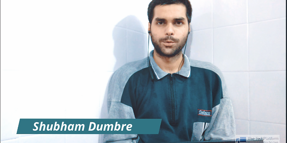 Session 1 - Creative Blogging and Editing by Shubham Dumbre