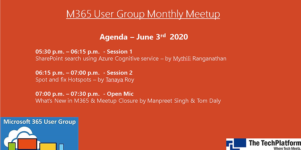 M365 User Group Monthly Meetup is BACK in June