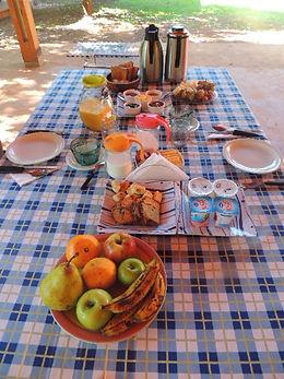 Desayuno Casa Yaguarete B&B Puerto Iguazu Argentina
