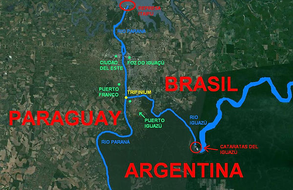 Tres Fronteras Paraguay Brasil Argentina