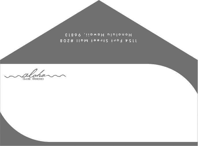 Aloha Envelope BW