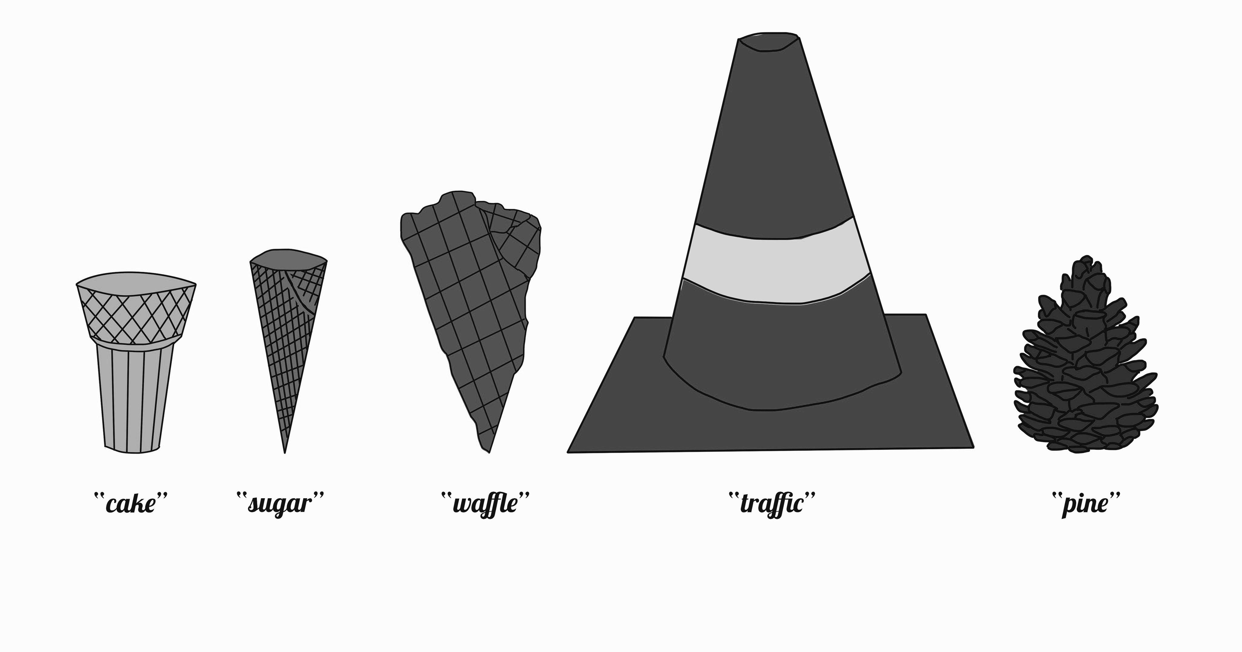 Cones BW