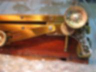 brass and wood plate camera deteriorated metal lacquer