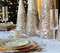 Navidad mesa de la cena