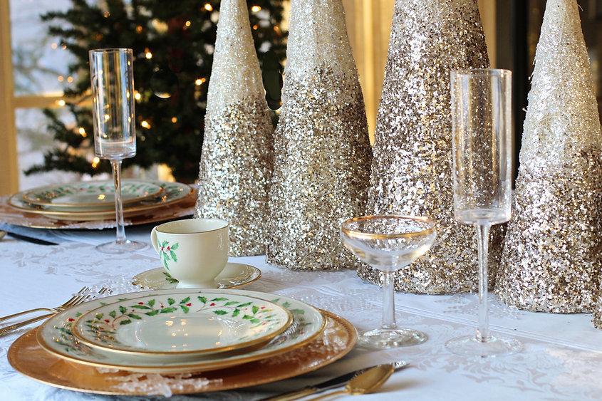 Kerstmis Dinner Table