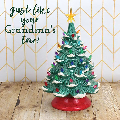 Christmas Tree Pottery Painting Workshop