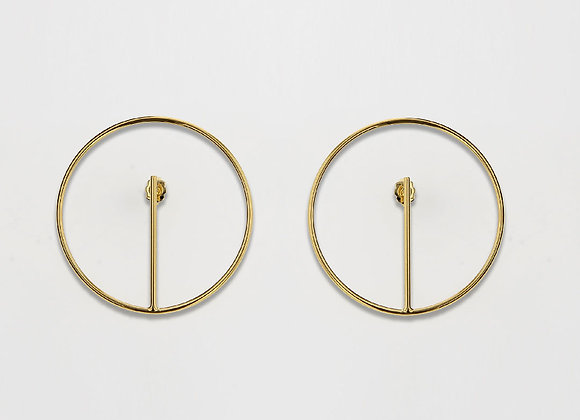 Boucles ORBE MM Plaqué Or