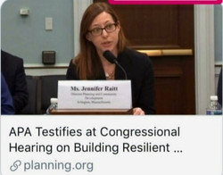 Testifying at a Congressional hearing on climate resiliency