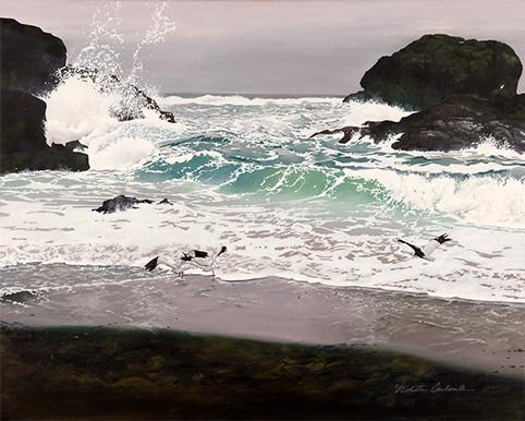 Tofino, 20W x 16H inches, oil on canvas, SOLD