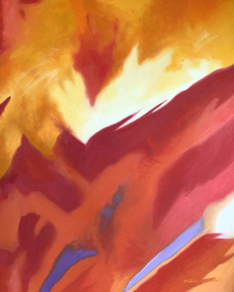 Autumnal III, 24W x 30H inches, oil on canvas, SOLD