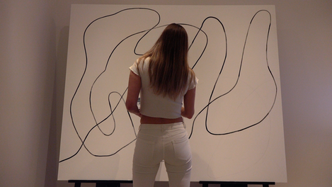 Nikita Coulombe painting Untitled XVI